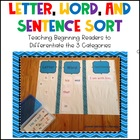 Letter, Word, &amp; Sentence Sort