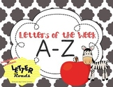 Letter of the Week Curriculum: Letters A-Z