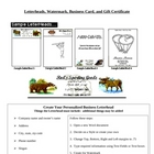 Letterheads, Certificates, Checks, and Business Cards with