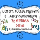 Letters, Blends, Digraphs, & Letter Combinations: 78 Print