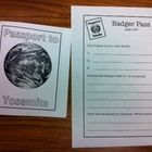 Letters Home From Yosemite - Print and go activity