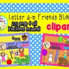 Letters a-m Friends Clipart BUNDLE