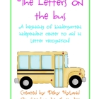 Letters on the Bus- A-Z Letter Recognition Literacy Centers