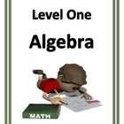 Algebra Worksheets Level One for Middle School