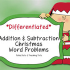 Christmas Addition and Subtraction Word Problem Sort: Sums