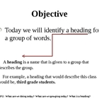 Levels of Specificity - Headings Powerpoint