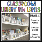 Library Book Bin Labels