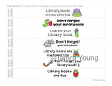 Library Book Reminders Paper Bracelets