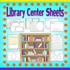 Library Center Activity Sheets *Teacher Time Savers*
