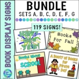 Library Display Sign BUNDLE for the Elementary School Library
