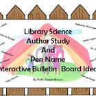 Library Science Author Study &amp; Pen Name Interactive Bullet