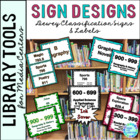 Library Signage for the Elementary Library