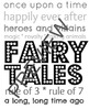 Library Subway Art for Fairy Tales - Black &amp; White