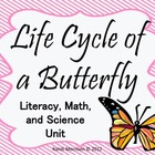 Life Cycle Of A Butterfly {Literacy, Math, and Science}