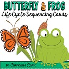 Life Cycle Sequencing Cards - Butterfly and Frog!