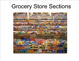 Life Skills: Grocery Store Sections Vocabulary Unit