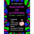 Life Skills Magazine Ad Activities