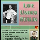 Life Under Stalin Question Set -- Word and Examview formats