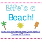 Life's a Beach Pack of Literacy and Math Activities