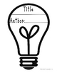 Light bulb-Shaped Book Template