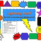 Lightning Fast!  DOLCH Pre-Primer Sight Word Board Game