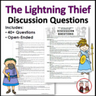 Lightning Thief Reading Discussion Questions Common Core S
