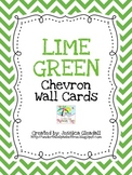 Lime Green Chevron Alphabet Wall Cards