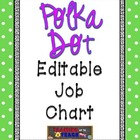 Lime Green Polka Dot Editable Job Chart