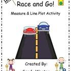 Line Graph Race and Go! Measure and Line Plot Math Station