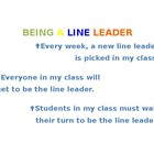 Line Leader Social Story