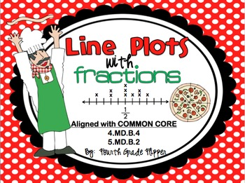 Line Plots with Fractions Math Center {aligned to Common Core}