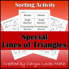 Line Segments of Triangle-Sort-Flash Cards-Memory Game