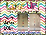 Line Up Vinyl Dots Set {1-30} Hot Colors