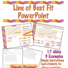 Line of Best Fit PowerPoint with Student Work Along Sheet