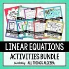 Linear Equations - Activities Bundle!  LOTS of FUN STUFF!