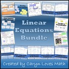 Linear Equations Bundle-6 Activities & Walls That Teach~Sl