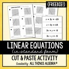Linear Equations Cut & Paste Activity