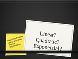 Linear, Quadratic, Exponential Functions: Formative Asmt S