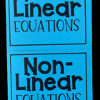 Linear vs. Non-Linear Equations (Foldable)