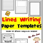 Lined Writing Paper Template with Illustration Space