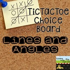 Lines and Angles TicTacToe Extension Activities