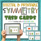 Lines of Symmetry Task Cards { Common Core Aligned }