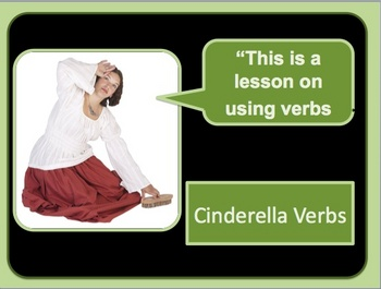 Linking and Action Verbs Powerpoint Lesson and quiz- Cinde