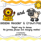 Lion & Lamb Foldable Emergent Reader ~Color & B&W~ CC Aligned!