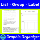 List Group Label Graphic Organizer