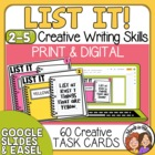 List It! Task Cards: 60 fun challenges for individual or g