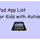 List of iPad Apps for Kids with Autism