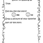 Listen to Reading Response Form (Freebie, NOT endorsed by