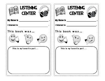 Listening Center - Great for using with Books on Tape or CD
