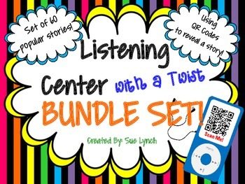 Listening Center Twist BUNDLE~QR Code reveals story~60 Popular stories
